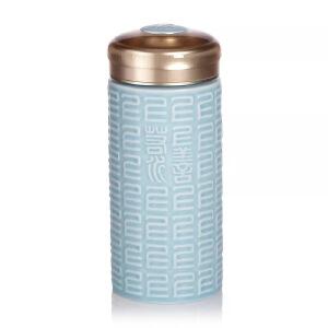 乾唐轩活瓷上善若水木纹盖随身杯创新意陶瓷杯水杯