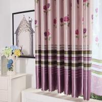 田园窗帘短帘半帘飘窗客厅卧室成品窗帘布全遮光窗帘