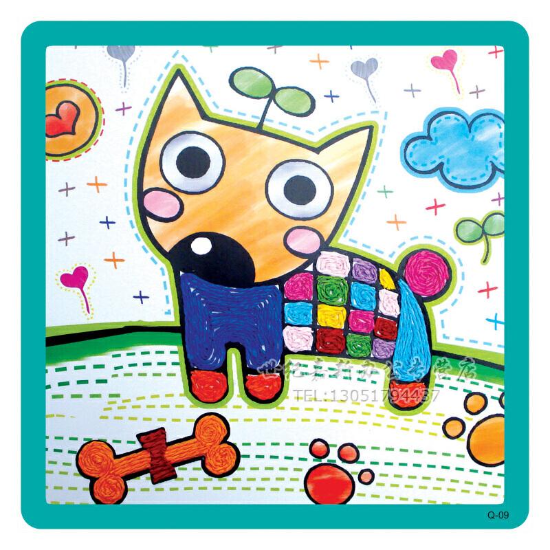 纸绳画 儿童手工制作材料 幼儿园diy粘贴画 绳子艺术 幼儿园diy手工