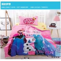 女童棉床上用品四件套白雪公主全棉被套芭比儿童卡通床单笠1.8