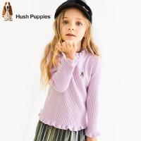 【秒杀价:110元】暇步士童装冬季新款女童针织衫时尚甜美加绒针织打底衫儿童加绒打底衫