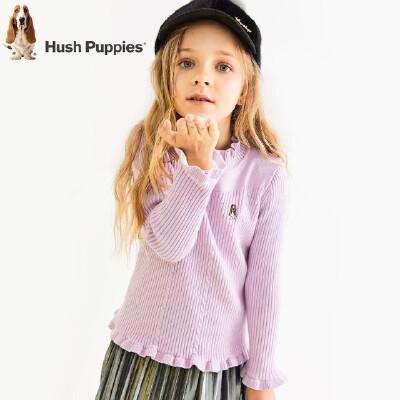 【秒杀价:99元】暇步士童装冬季新款女童针织衫时尚甜美加绒针织打底衫儿童加绒打底衫 开学GO不停