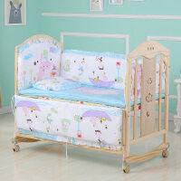 【支持礼品卡】婴儿床新生儿实木无漆环保宝宝床可拼接床变书桌儿童床婴儿摇篮床3xc