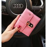日韩新款牛皮短款钱包女韩版时尚女士零钱包休闲卡包软皮手拿包女