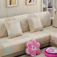 全棉布艺防滑沙发垫坐垫简约现代四季通用组合靠背扶手沙发巾套罩