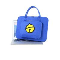 macbook华硕三星笔记本手提卡通电脑内胆包11.6/13.3/14/15.6寸 宝蓝色 黑底铃铛