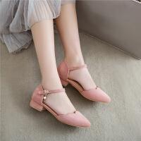 女童鞋子时尚女童凉鞋中大童公主包头儿童高跟学生鞋