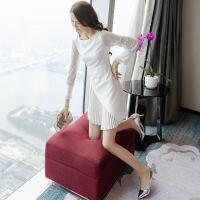 №【2019新款】冬天穿的女装很仙的裙子洋装小礼服白色连衣裙秋冬小个子穿搭显瘦