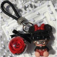 永生花钥匙扣女包包挂件可爱蒙奇奇汽车钥匙链闺蜜创意礼物盒SN7937