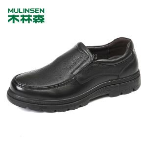【最后一小时 下单立减120】木林森99男鞋2018秋季新款商务休闲皮鞋 87053123