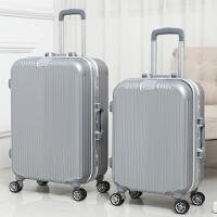 学生铝框行李箱万向轮拉杆箱男女旅行箱包密码皮箱子20寸24寸韩版