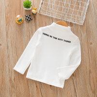 男童女童半高领打底衫秋冬季儿童长袖T恤衫宝宝上衣