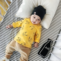 婴儿T恤秋季0-3岁新生儿长袖秋装男女幼儿纯棉上衣宝宝衣服