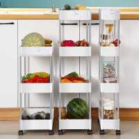 厨房置物架落地多层窄缝可移动小推车缝隙夹缝收纳架多功能储物架