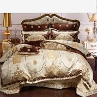 美式四件套�e墅床上用品六件套�Y婚床上被套
