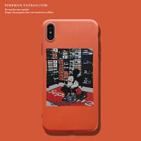 可爱卡通iPhone6s/7plus手机壳苹果 max软壳xr情侣保护壳8plus