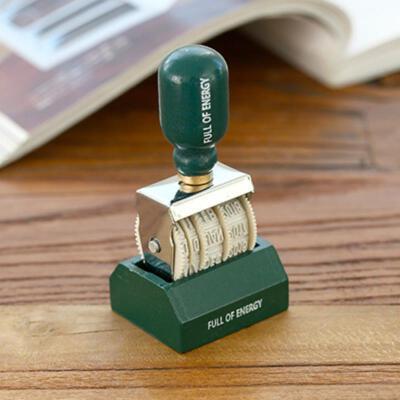 20181208024115793一件 韩国满满能量复古日期印章 DIY滚轮旋钮印章 手帐专用