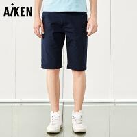 森马旗下Aiken休闲短裤男士夏装新款修身五分短裤学生裤子潮夏季