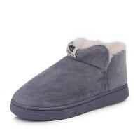 雪地靴女短筒短靴加绒冬季新款鞋子学生韩版百搭靴子平底棉鞋2018