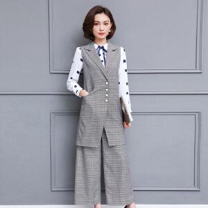 风轩衣度 套装/套裙时尚都市青春流行修身显瘦休闲气质个性舒适2018年春季新款2808-1