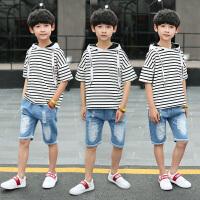 男童卫衣短袖新款儿童夏装男薄款中大童夏季童装
