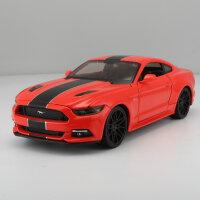 美驰图正版1:24福特野马GT改装版仿真合金汽车模型摆件跑车模型礼 新款野马改装版 红色101