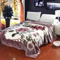 ???加厚冬季毛毯双层毯子大红婚庆毛毯