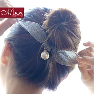 新年礼物Mbox发圈 女韩国版时尚简约设计发饰边夹顶夹发夹发箍发绳 梦甜馨