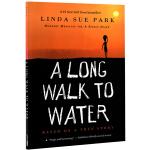 漫漫求水路 英文原版小说 A Long Walk to Water 儿童启蒙章节桥梁书 纽约时报畅销书