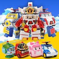 变形汽车玻利警车波利机器人珀利警长安巴罗伊救援全套装儿童玩具