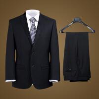 男士正装西服套装职业装黑色藏蓝工作西装婚礼商务套装西服