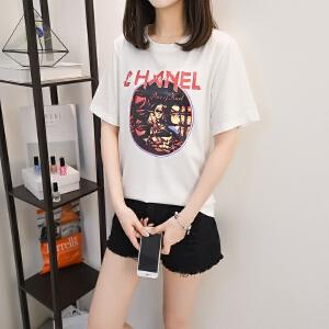 2018夏季短袖T恤女装韩范新款体��衫宽松学生ins半袖上衣服体恤女