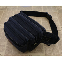 新款多功能男士腰包帆布大容量腰包女腰包户外运动包潮腰包收钱包