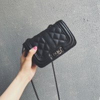 菱格链条包包女2018新款潮韩版迷你小方包单肩包斜挎包小香风包包
