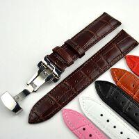 双边按制扣真皮表带双按自动扣男女卡MTH5001牛皮手表带