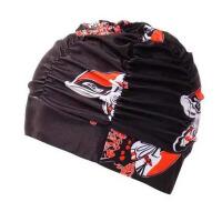 泳帽男女通用布泳帽加大护耳游泳帽女长发韩国时尚可爱