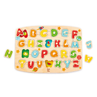 Hape四阶―字母启蒙小抓手拼图 积木拼插 儿童玩具 拼图拼板 E1505