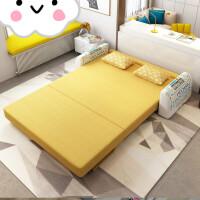 布艺沙发床可折叠客厅双人简易小户型坐卧两用沙发1.2米单人 1.5米-1.8米