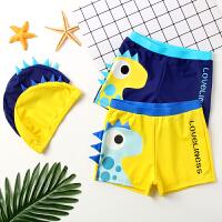 儿童泳裤带帽宝宝泳衣男童平角泳衣游泳衣男孩分体泳装中大童泳衣