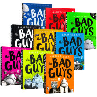 我是大坏蛋5册 英文原版 The Bad Guys Episode 1-5 儿童漫画小说章节书 Scholastic 幽默风趣Aaron Blabey进口英语书籍正版英文版