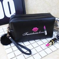 化妆包大容量小号可爱便携复古迷你防水小淑女手提化妆袋旅行随身