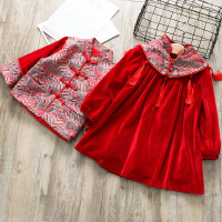 新年装2018冬季新款男女宝宝加厚红色中国风唐装兄妹装过年拜年服