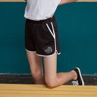 【1件4折到手价:27.6】美特斯邦威运动短裤女2019夏季新款学生时尚舒适运动风休闲裤子潮