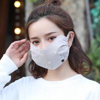 口罩女秋冬季保暖韩版可爱护眼角秋纯棉口罩防尘透气可清洗易呼吸