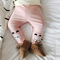 婴儿打底裤新生儿连体袜子男女童百搭多色春秋纯棉连脚包脚袜
