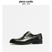 皮尔卡丹秋季新款正装系带商务皮鞋经典布洛克英伦男鞋宴会鞋