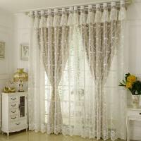 韩式公主风窗帘成品定制加厚全遮光双层短帘客厅卧室婚房飘窗遮阳