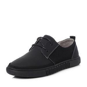 Teenmix/天美意2018夏专柜同款牛皮/织物平跟男休闲鞋2HH01BM8