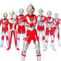 咸蛋超人玩具泰罗赛文奥特曼对战怪兽人偶模型儿童玩具套装