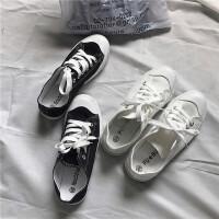 原宿ulzzang复古小白鞋秋装新款百搭学生运动平底鞋休闲帆布鞋女